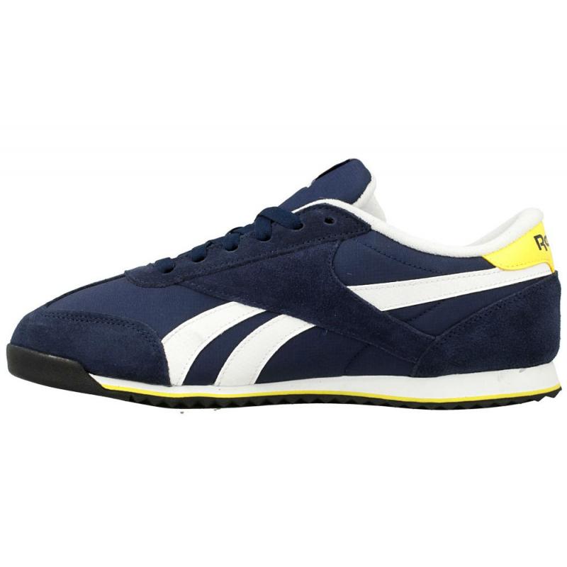Rekreačná obuv REEBOK-REEBOK ROYAL CL RAY COLL NVY WHT YELL BL 26ce5c9e66