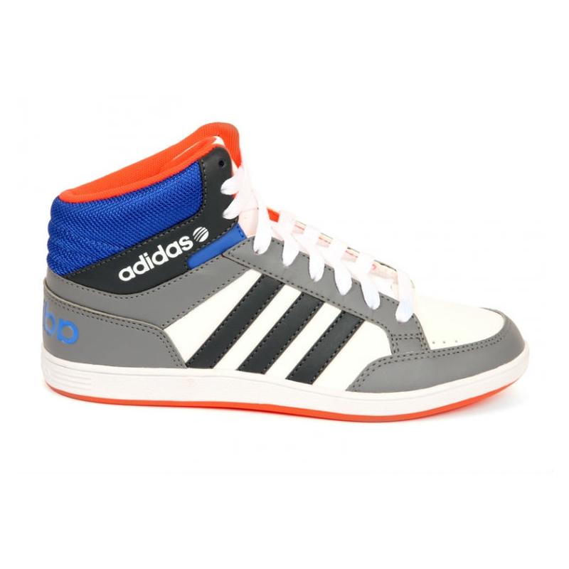 Rekreačná obuv ADIDAS NEO-HOOPS MID K FTWWHT BOONIX BLUE - Juniorská  vychádzková 26e2587171