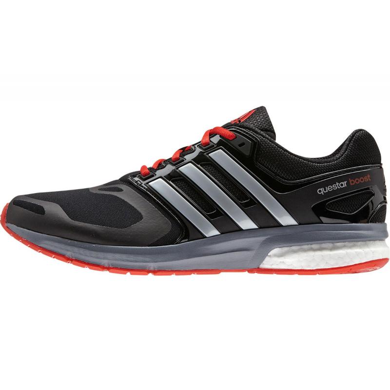 Bežecká obuv ADIDAS-Questar boost tf m CBLACK SILVMT VIVRED - 00d0d7033d3