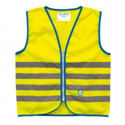 Reflexná vesta WOWOW Fun Jacket Yellow Small (5-7)