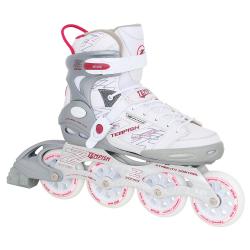 Dámske fitness kolieskové korčule TEMPISH-ZONER LADY WHITE 90mm/85A ILQ7