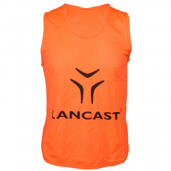 Juniorský rozlišovací dres LANCAST Training bib New Logo ORANGE junior