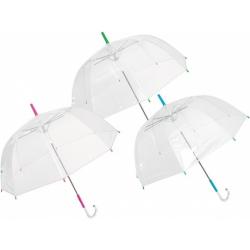 Športový dáždnik JFK Dáždnik 1farebný dámsky transparentný (POE), automat,