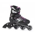 Dámske fitness kolieskové korčule FILA SKATES-MIZAR 80 LADY BLACK/MAGENTA -