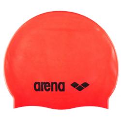 ARENA Clasic Silicone Cap - fluo červená-černá