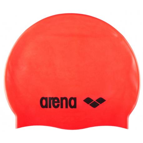 Plavecká čiapka ARENA-Clasic Silicone Cap fluo red-black
