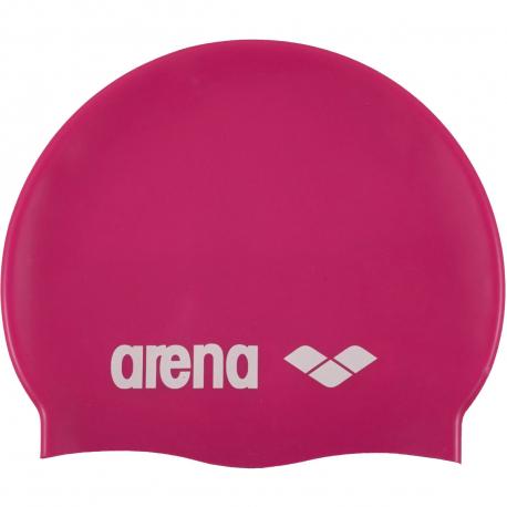 Plavecká čiapka ARENA-Clasic Silicone Cap - fuchsiová-bílá