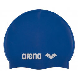 ARENA Clasic Silicone Cap - nebesky modrá-bílá