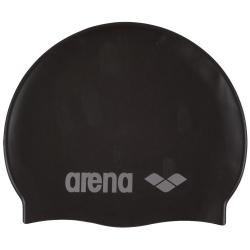 Juniorská plavecká čiapka ARENA-Clasic Silicone Jr. black-silver