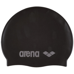 Juniorská plavecká čiapka ARENA Clasic Silicone Jr. - černá-stříbrná