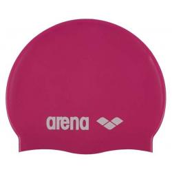 Juniorská plavecká čiapka ARENA-Clasic Silicone Jr. - fuchsiová-bílá