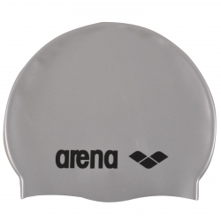Juniorská plavecká čiapka ARENA Clasic Silicone Jr. - stříbrná-černá
