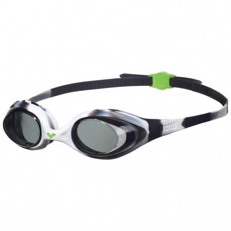 Juniorské plavecké okuliare ARENA-Spider Jr. black-white-clear