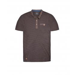 Polo tričko s krátkym rukávom VOLCANO-T-XENON grey