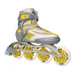 Fitness kolieskové korčule SULOV ROMA YELLOW 90/100mm 85A ABEC 9 TRL