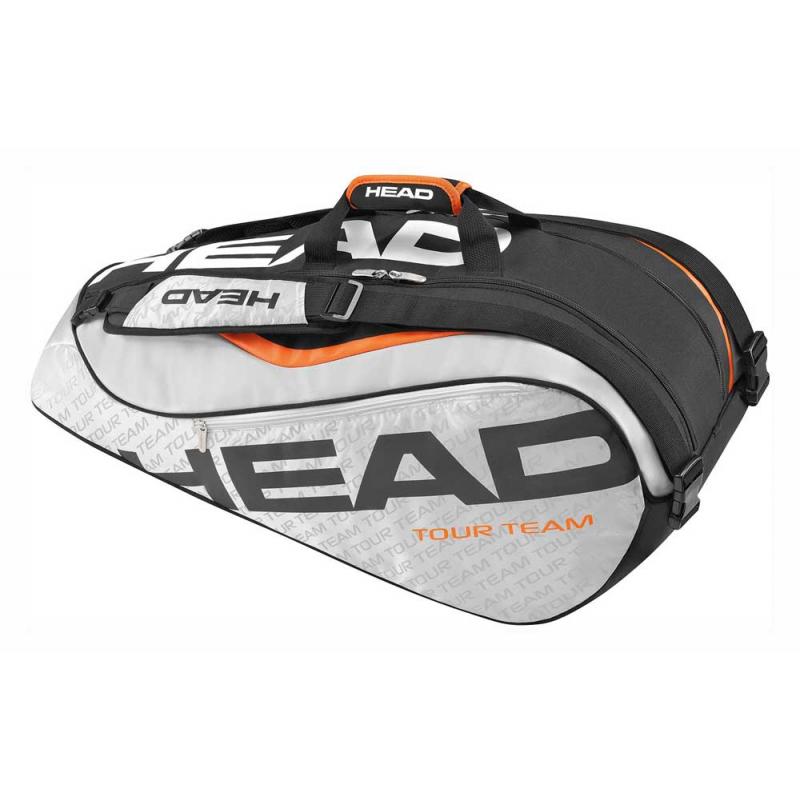9079745220f22 Taška na tenisové rakety HEAD-TOUR TEAM SUPERCOMBI 9R BLACK -