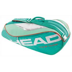 Taška na tenisové rakety HEAD-TOUR TEAM COMBI 6R TURQUOISE/CORAL