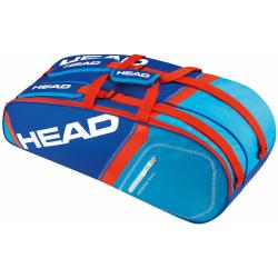 Taška na tenisové rakety HEAD-CORE 9RKT Supercombi BLUE/FLAME