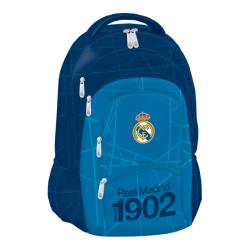 Školský ruksak REAL MADRID RMA BL/WH Plecniak 477 5komorový MIR BLK