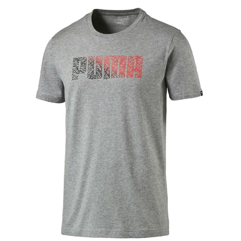 Tréningové tričko s krátkym rukávom PUMA-Logo AbstractTee - grey - 5d70e0ac1cf