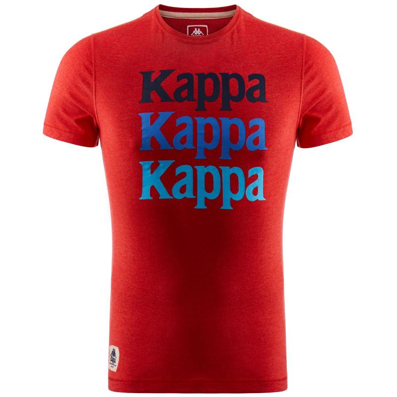 Tričko s krátkym rukávom KAPPA-WOLAG red - Pánske tričko značky Kappa s  veľkým nápisom cda37862e1f