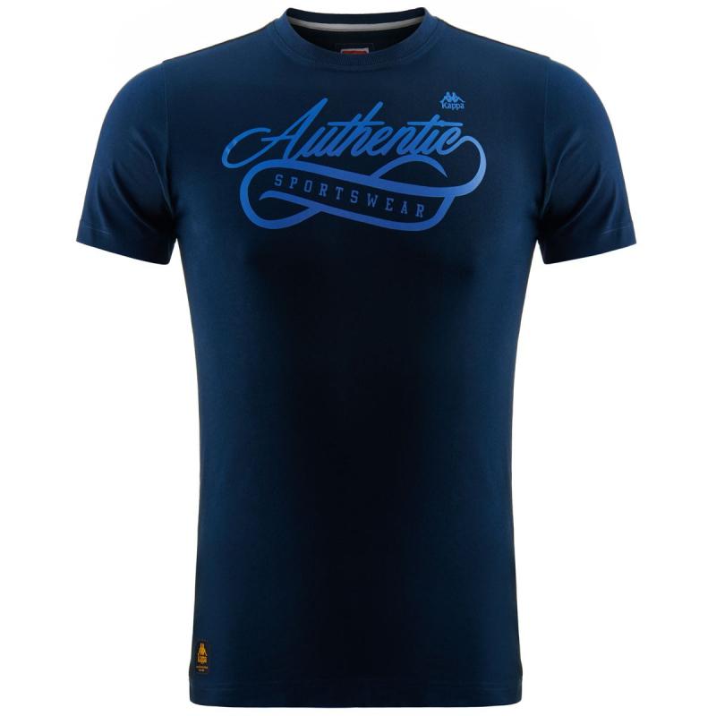 Tričko s krátkym rukávom KAPPA-AUTHENTIC WETOV navy - Pánske tričko značky  Kappa s väčšou 85d6c3646d8