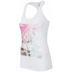 Dámske tričko bez rukávov 4F-T-SHIRT TSD019 WHITE