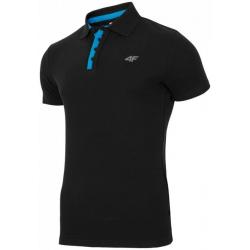Pánske polo tričko s krátkym rukávom 4F-T-SHIRT TSM004 BLACK