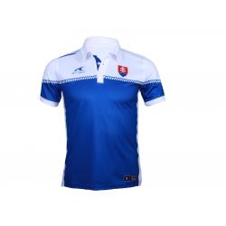 Fan polo tričko s krátkym rukávom ATAK POL SVK 16 S POLOSHIRT BLUE PE