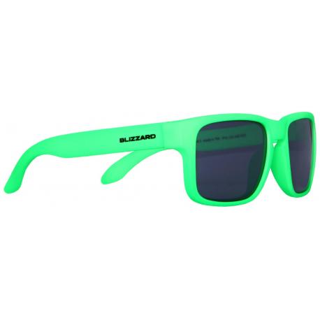 Detské slnečné okuliare BLIZZARD-sun glasses POL125-440 rubber neon green, POL