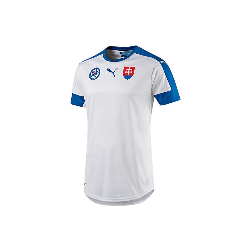 8879385ef7205 Pánske fan tričko s krátkym rukávom PUMA-Slovakia Home Replica EURO 2016  Shirt WHITE -