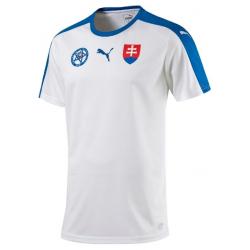 Fan tričko s krátkym rukávom PUMA-Slovakia Replica EURO 2016 B2B Shirt WHITE