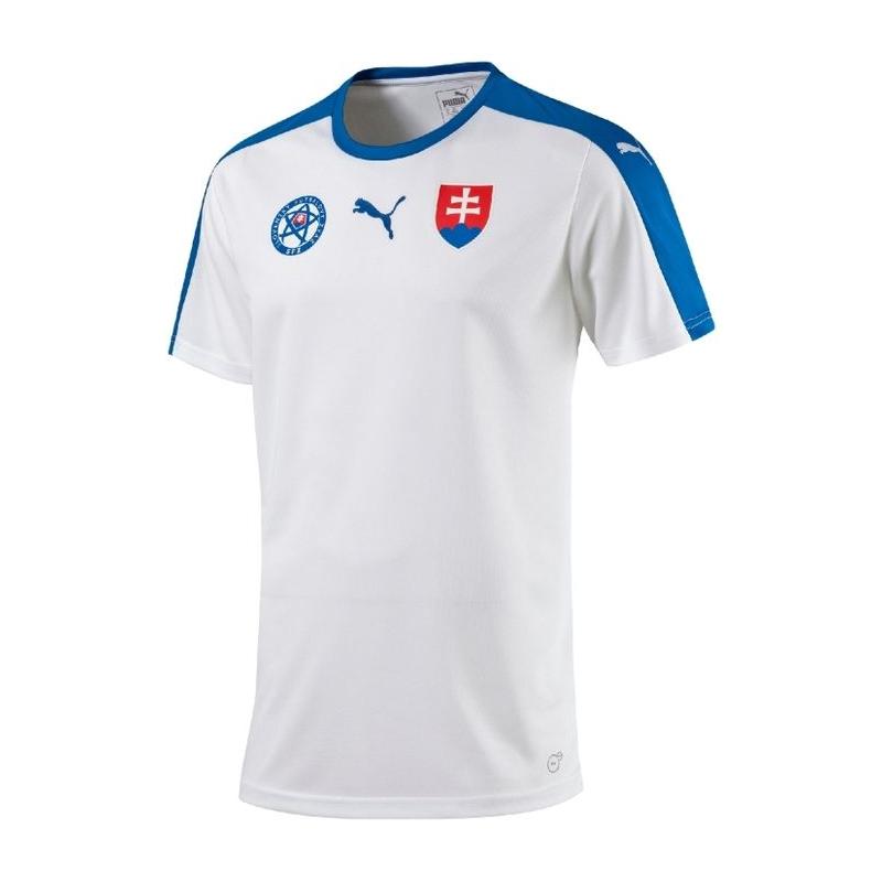 ca853020af54d Fan tričko s krátkym rukávom PUMA-Slovakia Replica EURO 2016 B2B Shirt  WHITE -