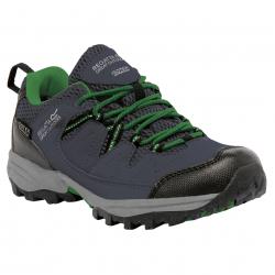 Juniorská turistická obuv nízka REGATTA Holcombe Low SlGry/ExtGrn