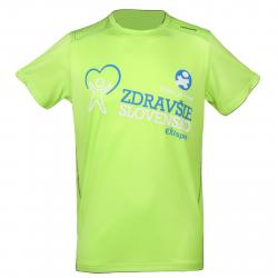 Pánske tréningové tričko s krátkym rukávom AUTHORITY-EXISPORT ZS neon M