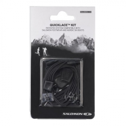 Šnúrky do topánok SALOMON-QUICKLACE KIT BLACK