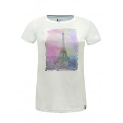 Turistické tričko s krátkym rukávom DARE2B Tower Above T-Shi White