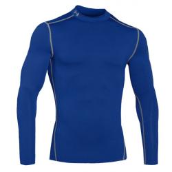 Pánske tréningové tričko s dlhým rukávom UNDER ARMOUR-COLD GEAR ARMOUR MOCK blue