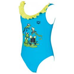 Dievčenské plavecké jednodielne plavky ARENA-KG Carinho kids girl one piece Turquise