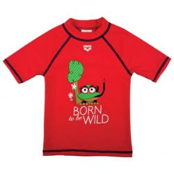 Chlapčenské tričko na kúpanie ARENA AWT kids boy UV T-shirt red