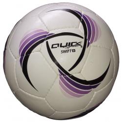 Futbalová halová lopta QUICK SPORT SWIFT Plus SALA s tlmeným odskokom WHITE/PURP