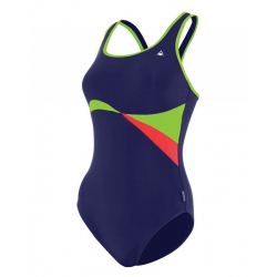 Dámske plavecké jednodielne plavky AQUA SPHERE MAPUTO-navy blue light green
