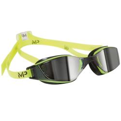 Plavecké okuliare MP XCEED verspiegeltes Glas-gelb/schwarz