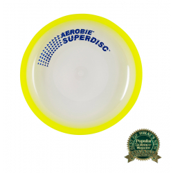 Frisbee AEROBIE-Lietajúci tanier SUPERDISC žltý