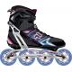 Dámske fitness kolieskové korčule FILA SKATES-PLUME LADY BLACK/MAGENTA/LBLUE SS17 - Dámske in-line korčule značky Fila.