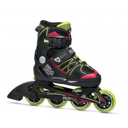Detské kolieskové korčule FILA SKATES-X-ONE BLACK/RED/LIME SS17