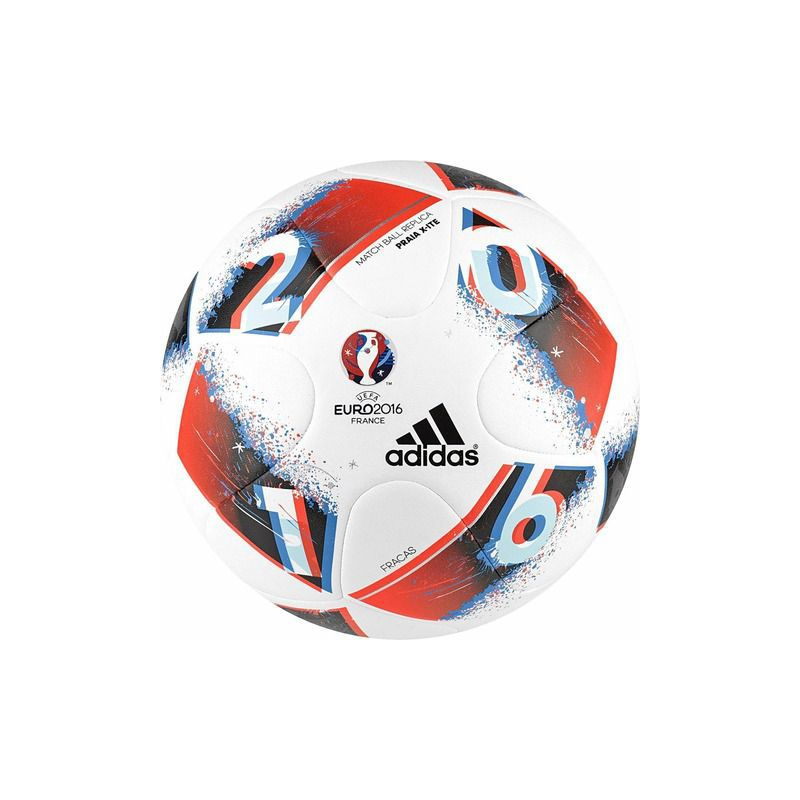 df578bcc00368 Futbalová lopta ADIDAS-EURO16 PRAIA X WHITE/BRBLUE/SOLRED -