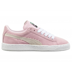 PUMA-Suede Jr pink lady-white-team gold