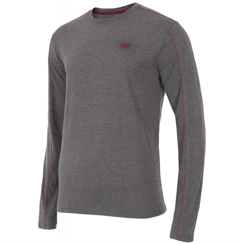 fc154f246ac3 Pánske tričko s dlhým rukávom 4F-LONGSLEEVE TSML001-DARK GREY MELANGE -