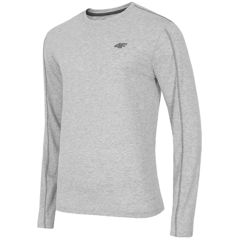 eec8bb31f770 Pánske tričko s dlhým rukávom 4F-LONGSLEEVE TSML001-LIGHT GREY MELANGE -